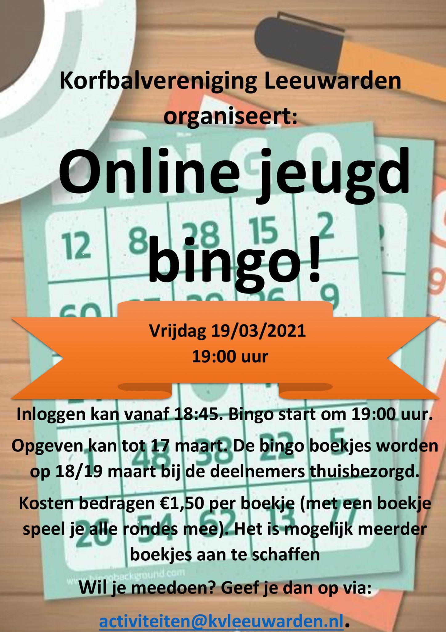 Nieuwe online activiteit: Jeugd Bingo!