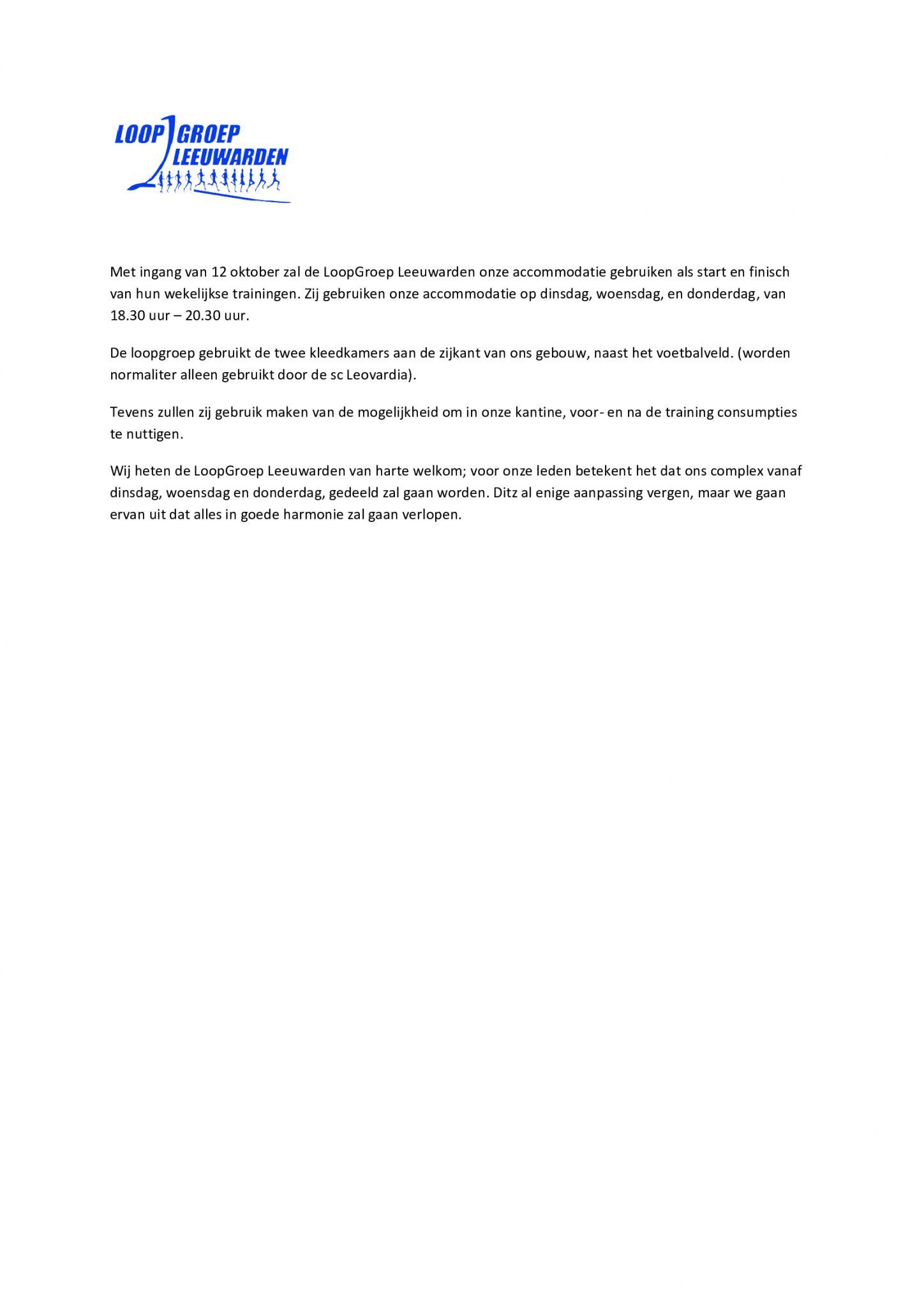 Welkom LoopGroep Leeuwarden